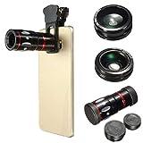 M. Way 4en 1à clipser téléphone portable appareil photo Len kit 10x Zoom...