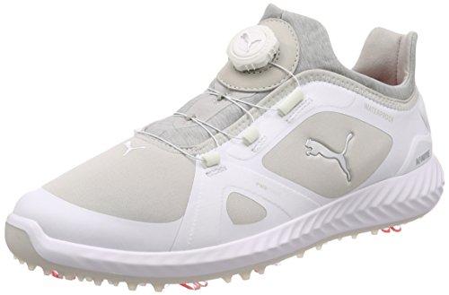 Puma Chaussures de Golf pour Homme - - Blanc/Gris, 9 UK