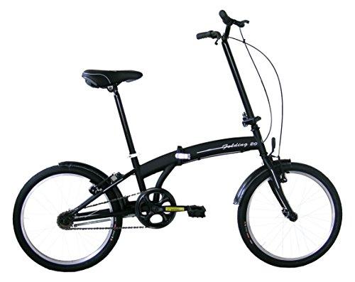 Frejus Microbike Bicicletta pieghevole, 20'', Nero