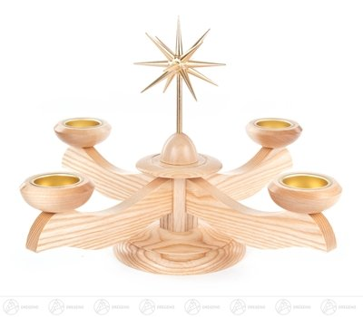 Holzleuchter Altholz Kerzenständer,