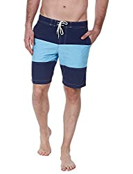 Zobello Mens Swim Shorts (41003A_Navy_Large)