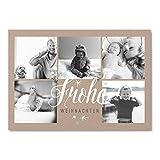 greetinks 25 x Weihnachtskarten 'Frohes Fest' in Weiß | Personalisierte Karten zu Weihnachten zum selbst gestalten | 25 Stück Grußkarten für Familie mit Kinder oder Geschäftlich
