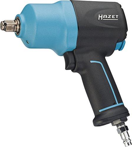 HAZET Druckluft-Schlagschrauber (max. Lösemoment 1700 Nm, Vierkant 12,5 mm (1/2 Zoll), empfohlenes Drehmoment 881 Nm, Hochleistungs-Doppelhammer-Schlagwerk) 9012EL-SPC