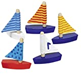 Goki Segelboote 5er Set Bunt