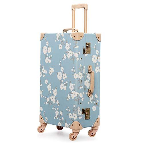 XDD 24-Zoll-Vintage Koffer Gepäck Damenmode Retro Koffer mit multidirektionalen Spinner Wheels für Reisen Urlaubsreise oder den täglichen Gebrauch Hardshell Reisetasche -