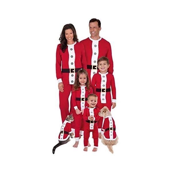 Goyajun Familia Navidad Papá Noel Pijama - Adulto Mujer Hombre Niños Muchachos Muchachas PJs Ropa de Dormir Familia… 1