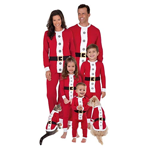 Goyajun Familia Navidad Papá Noel Pijama - Adulto Mujer Hombre Niños Muchachos Muchachas PJs Ropa de Dormir Familia Matching Traje de Pantalones