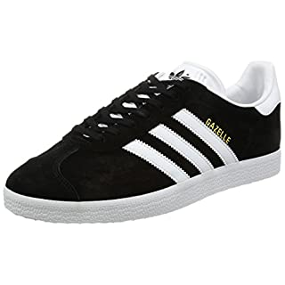 Adidas Men's Gazelle Multisport Outdoor Shoes, (Core Black/White/Gold Metallic), 9 UK 43 1/3 EU