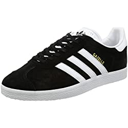 adidas Originals Gazelle, Zapatillas Unisex Adulto, Varios colores (Core Black/White/Gold Metalic), 42 EU