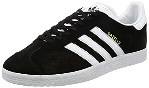 adidas Gazelle, Sneakers Basses mixte adulte, Noir (Core Black/White/Gold Metallic),