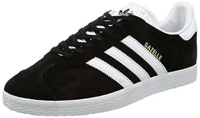 adidas  Gazelle, Baskets  Basses mixte adulte, Noir (Core Black/White/Gold Metallic), 36 EU  (3.5 UK)