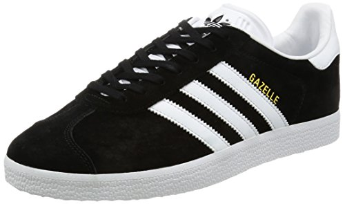 adidas Gazelle Zapatillas, Unisex-adulto, Varios colores (Core Black / White / Gold Metalic), 43 1/3