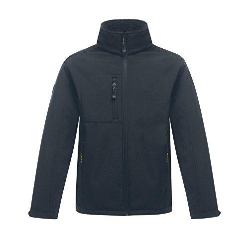 Regatta Hardwear Mens Groundfort II Full Zip Softshell Workwear Jacket Iron(Black)