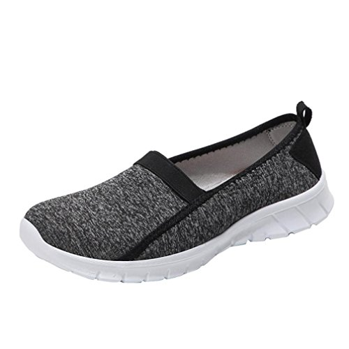 Baskets à Enfiler Femme,Overdose Automne Hiver Chaussures Plates Tennis Sport Casual Loafers Slip on Sneakers