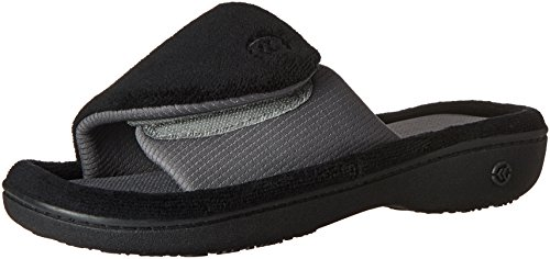isotoner-womens-microterry-adjustable-slide-slippers-black-x-large-95-10-m-us