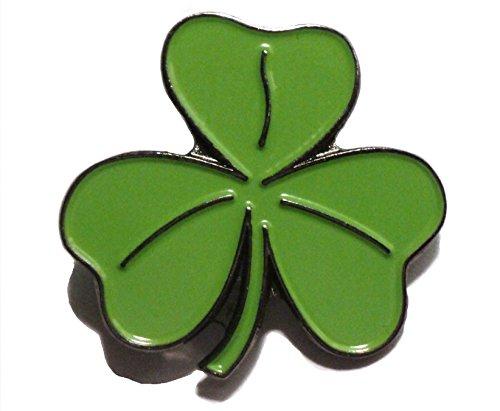 &Metall Pin/Brosche mit vierblättrigem Kleeblatt, Glücksbringer, Motiv irisches...