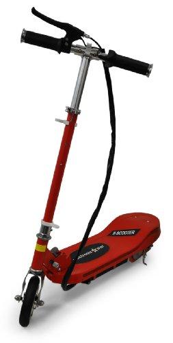 Electronic-Star V6 Monopattino, Scooter Elettrico (100W, 2 Freni, velocità Massima di 16 km/h, ecompatibile, Funzionamento Elettrico, Pieghevole) - Rosso ...