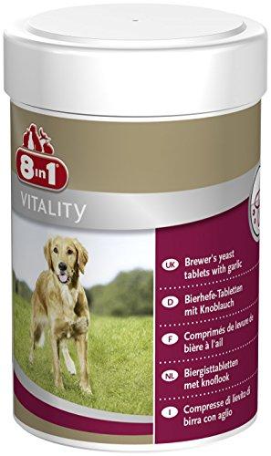 8in1 Bierhefe Tabletten (Nahrungsergänzung, für gesunde Haut und glänzendes Hundefell, reduziert nährstoffmangel-bedingtes Haaren), 1 Dose (260 Tabletten)