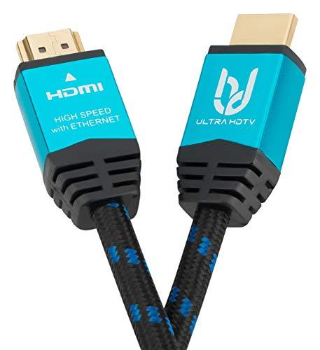 Ultra HDTV Premium 4K HDMI Kabel 10 Meter/HDMI 2.0b, 4K bei vollen 60Hz (Keine Ruckler), HDR10+, 3D, ARC, Ethernet, Dolby Vision