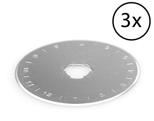 PRETEX Premium - Ersatzklingen für Rollschneider / Rollmesser 45 mm (3 Stück)
