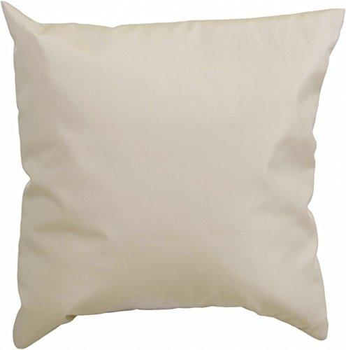 Gartenstuhl-Kissen Dekokissen Premium Lounge Palettenkissen in beige ca. 45 x 45 cm ca. 8 cm dick aus 100% Polyester wasserabweisend