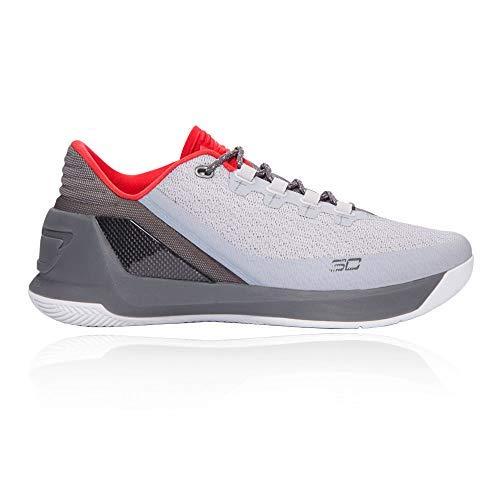 Under Armour UA Curry 3 Niedrig Herren Basketball Schuhe 1286376 Turnschuhe - Grau Grau Rot 289, 11 UK/46 EU/12 US (Herren Under Armour Rot Turnschuhe)