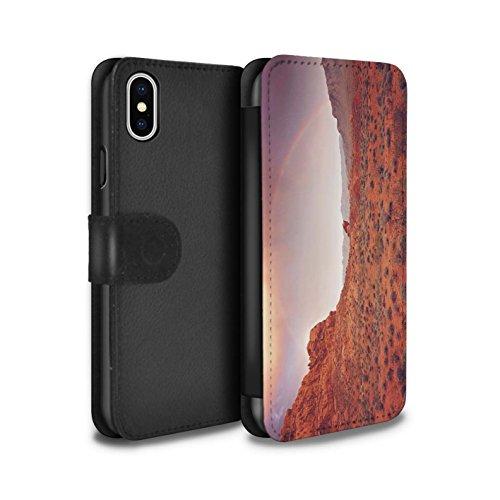 Stuff4 Coque/Etui/Housse Cuir PU Case/Cover pour Apple iPhone X/10 / Pack 6pcs Design / État du Nevada Collection Arc en Ciel