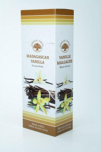 GREEN TREE CANDLE 8903664100012 Madagascar d'encens Vanille Lot de 20