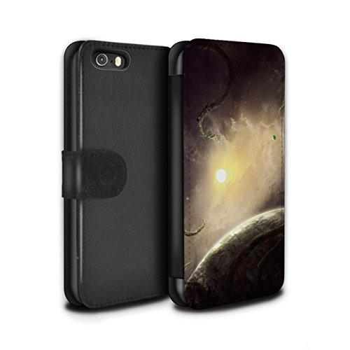 Offiziell Chris Cold PU-Leder Hülle/Case/Tasche/Cover für Apple iPhone SE / Phönix/Raumzeit Muster / Galaktische Welt Kollektion Entfernten Stern