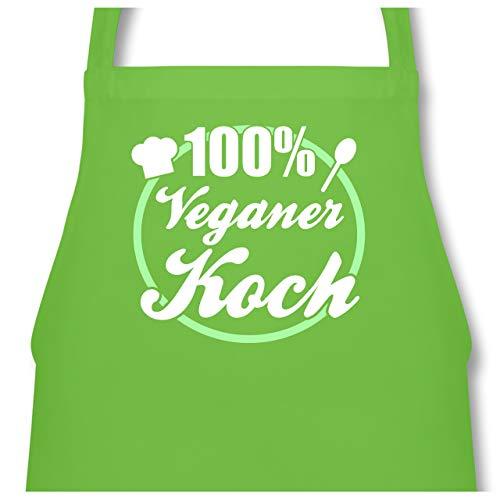 Shirtracer Küche - 100% Veganer Koch - 60 x 87 cm (B x H) - Hellgrün - PW102 - Kochschürze für Männer und Damen -