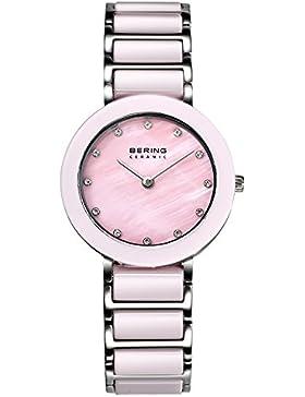 Bering Time Damen-Armbanduhr XS Ceramic Analog Quarz verschiedene Materialien 11429-999