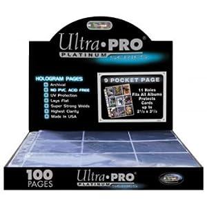 Ultra Pro - Caja de 100 hojas de 9 bolsillos (951100)