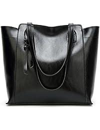 La donna casual Bag solide capacità di grandi borse a tracolla Borse donna  Borse donna in pelle PU Top-Handle… aaf31aa14a1