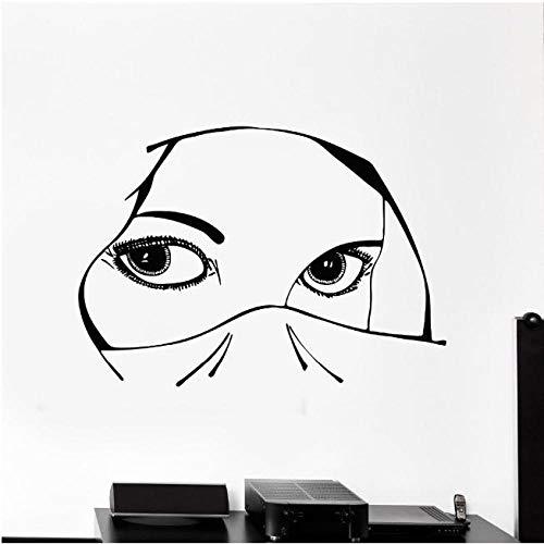 Wandaufkleber Design Vinyl Aufkleber Aufkleber Augen Arabisch Schöne Frau Mädchen Dekoration Für Schlafzimmer Abnehmbare Kunstwand
