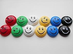 36 neue preiswerte smiley geisichtsmagnete magnete bunt mix schwarz blau gr n wei gelb und. Black Bedroom Furniture Sets. Home Design Ideas