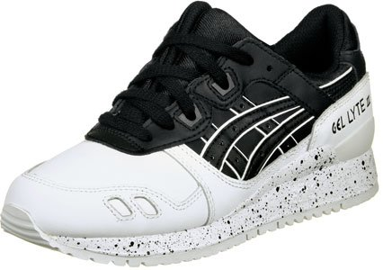 Asics Gel Lyte III chaussures noir blanc