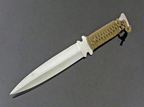Fahrtenmesser Wurfmesser 26 cm Survival Messer mit Etui - Tarnfarbe grün - tactical Knife - NAVY EDITION