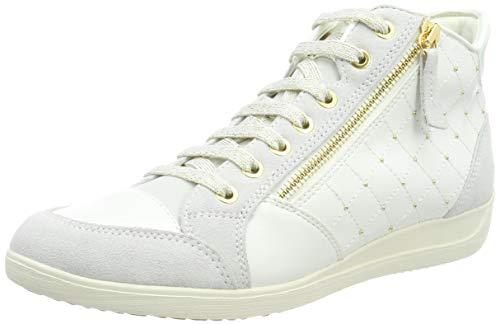 dac5acf0 Geox D Myria C, Sneaker a Collo Alto Donna, Bianco (off White C1209