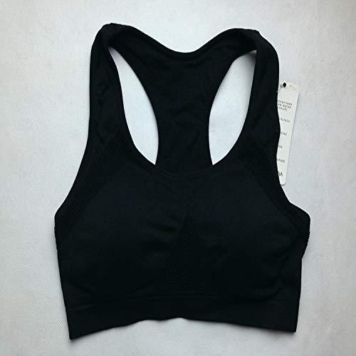 Tianyifeng Kein Stahlring atmungsaktiv Nahtlose Sport-BH gesammelt Größe Yoga Schlaf schwarz L