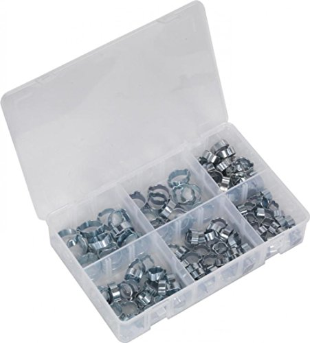 Sealey Double 2 Ear O-Clip Assortment & Box Zinc Plated Hose | 140 Piece