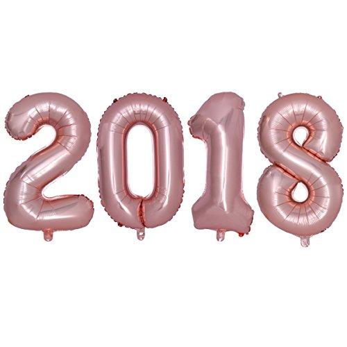 TOYMYTOY-2018-Folienballon-Jumbo-Zahlen-Luftballons-Silvester-Party-Neujahr-Jubilum-Dekoration-16-Zoll