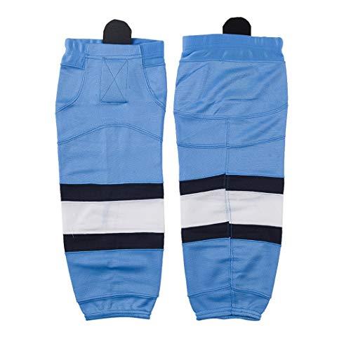 COLDINDOOR Erwachsene Eishockey-Socken Senior, Jungen, Sky Blue 06, Large(28-30 Inch)