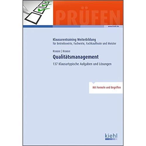Pdf Qualitátsmanagement 137 Klausurtypische Aufgaben Und Lösungen