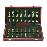 collar.y Internationales Schachzinklegierungswettbewerbsspiel Puzzle Faltbares Bord Set Outdoor Reisezubehör Intellektuelle Unterhaltung