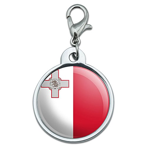 chrome-plated-metal-small-pet-id-dog-cat-tag-country-national-state-flag-l-n-malta-national-country-
