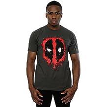 Marvel Deadpool Splat Face, Camisetas para Hombre