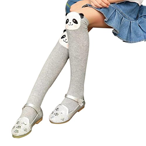 VENMO Cute Animals Knitted Women Long Socks Thick Winter Warm Girls Over Knee High Tighs Cotton Stocking Tights Leggings (Panda)
