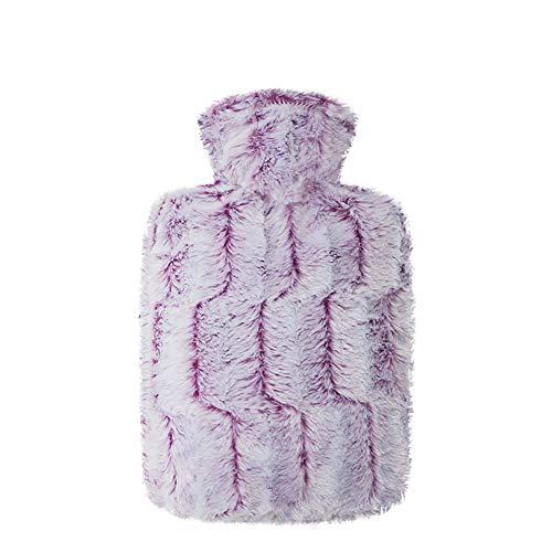 Wärmflasche Kaschmir Wärmflasche Frau Wassereinspritzung Warmer Wasserbeutel Erwachsener Groß Niedlich Mantel Warmer Uterus,Purple