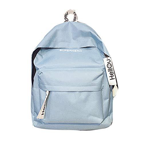 FBGood Jugendliche Einfarbig Paar Rucksack Mode Schulrucksack Satchel Schule Taschen Großer Kapazität Studenten Umhängetasche Draussen Reisetasche