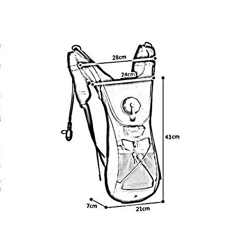 ZHANGRONG- Zaino da corsa fuori strada 2.5L Sacchetto di spalla di polvere personale ultra leggero degli uomini e delle donne Maratona in sella a una borsa Sacchetto acqua bollitore (Opzionale a color 4